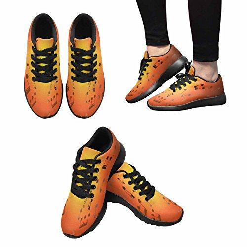 Interestprint Mujeres Jogging Running Sneaker Ligero Go Easy Walking Comfort Deportes Zapatillas De Deporte Music Multi 1
