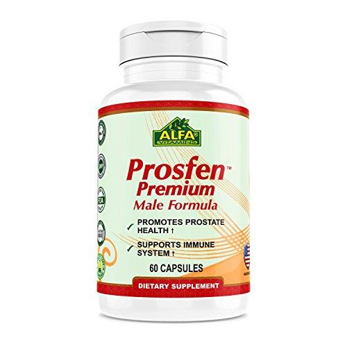Prosfen Premium MALE FORMULA - Promotes Prostate Health - Supports Immune System - Provides Zinc, Vitamin B12, and Selenium - 60 Capsules - Premium Prostate Support Formula