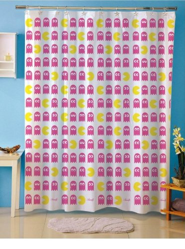 Pacman Shower Curtain Amazoncouk Kitchen Home
