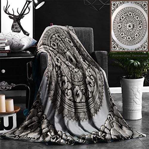 """Unique Custom Flannel Blankets Silver Lacquer Show Flower Art Balance Global Crafts Thai Artists Place In Chiang Mai Thaila Super Soft Blanketry for Bed Couch, Throw Blanket 40"""" x 60"""" by Nalagoo"""