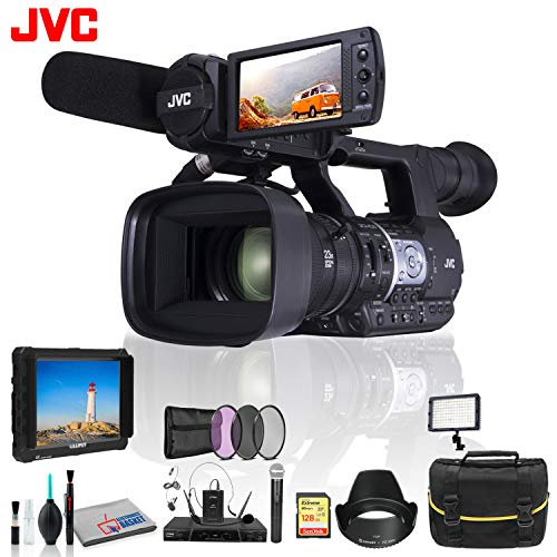 JVC GY-HM620 ProHD Mobile News Camera 3 Piece Color Kit, On Field Camera Monitor and More
