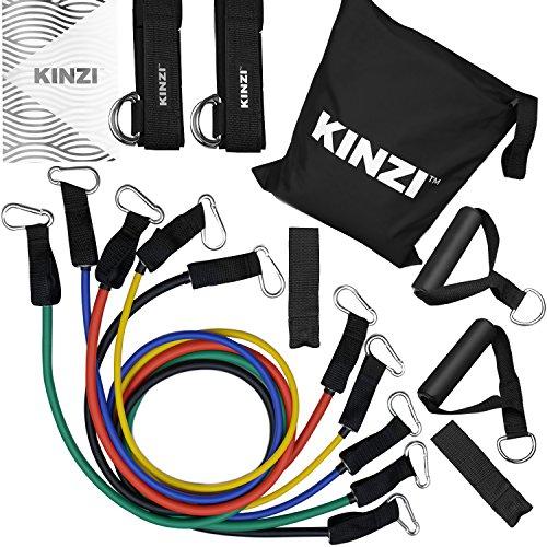 Kinzi Resistance Band Set With Extra Door Anchor, Extra