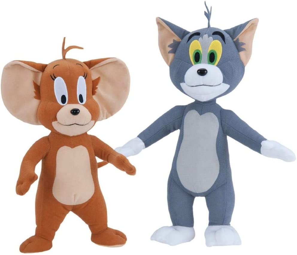 2pcs//set Tom and Jerry Plush Doll Soft Stuffed Animal Cat And Mouse Cartoon Toys