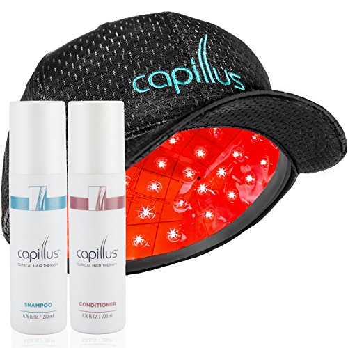 Capillus82 Hair Growth Laser Treatment, Exfoliating Shampoo & Hydrating Conditioner - New Full-Coverage, Flexible Hair Growth Cap Used by Hair Loss Doctors for Treating Androgenetic Alopecia by Capillus