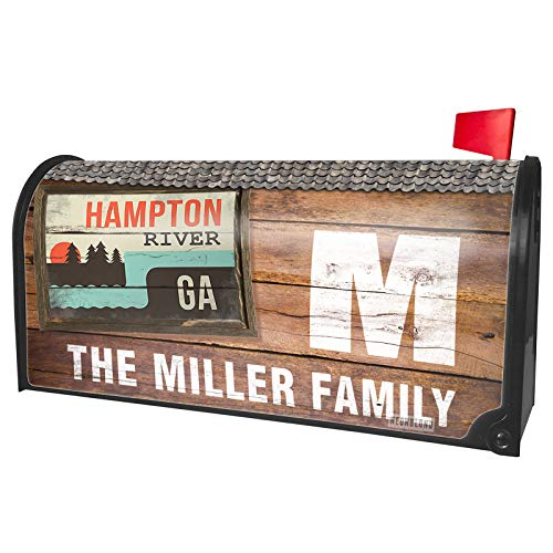 NEONBLOND Custom Mailbox Cover USA Rivers Hampton River - Georgia