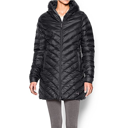 Under Armour Women's Storm ColdGear Infrared Uptown Parka, Black/Steeple Gray, Medium (Under Armour Outdoor Coldgear Hood)