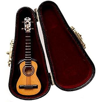 instrument miniature with hand crafted velvet lined case banjo home kitchen. Black Bedroom Furniture Sets. Home Design Ideas