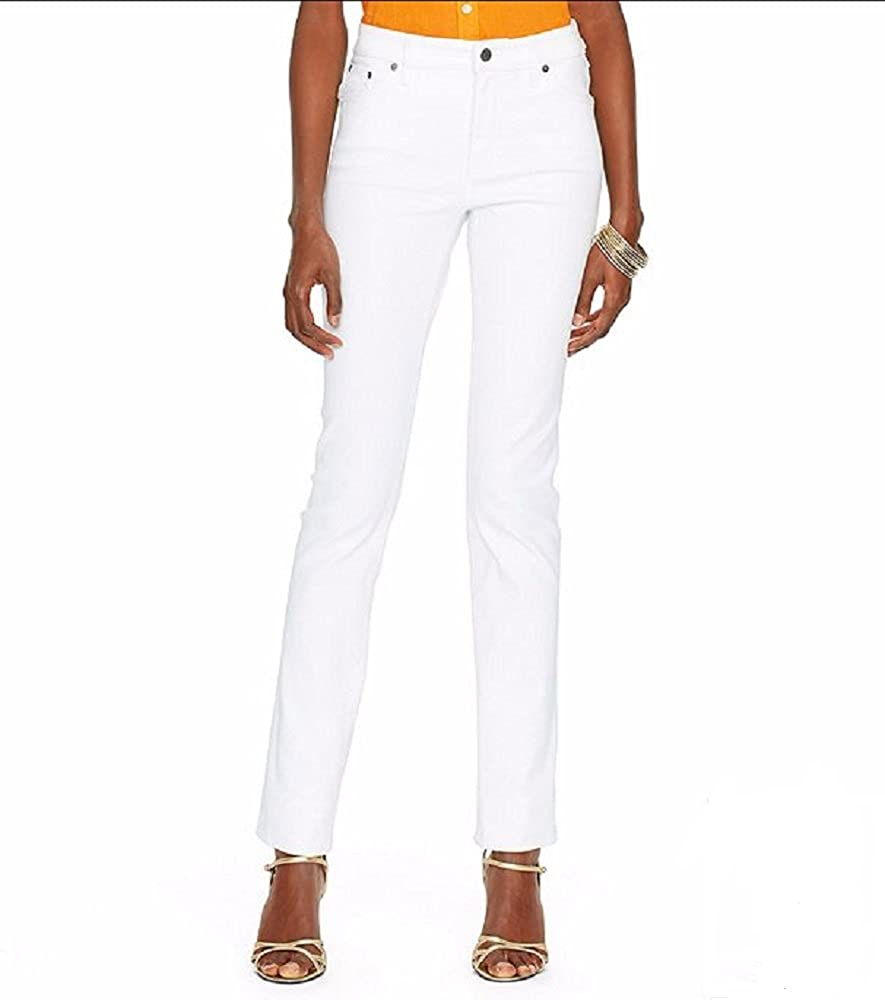 Lauren by Ralph Lauren Jeans Co Super-Stretch Modern Curvy White-Wash Jeans