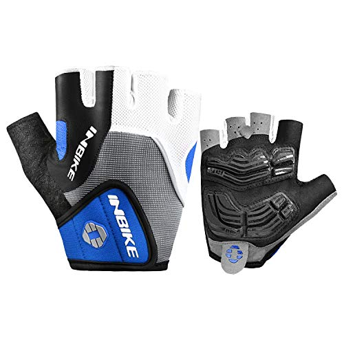 INBIKE Bike Gloves Men Half Finger Bicycle Gloves 5mm Gel