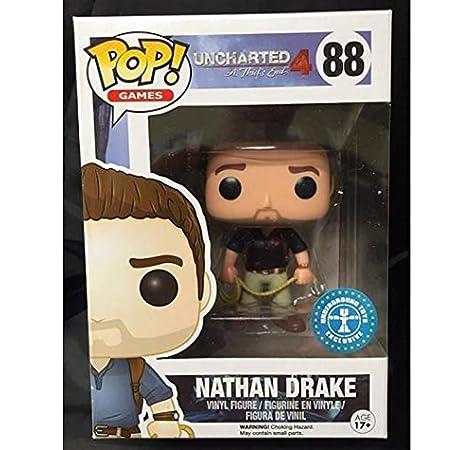 Funko Pop Nathan Drake 88 Uncharted Figure 9 cm Videogame Ladro Exclusive #1: Amazon.es: Juguetes y juegos