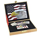 eSmart Lighter and Knife Gift Set With Multiple Themes (American Flag Eagle 1)