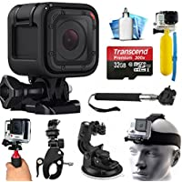 GoPro HERO5 Session HD Action Camera (CHDHS-501) with 32GB Card + Case + Floating Handle + Flexible Tripod + Head/Chest Strap + Car Mount + Opteka X-Grip + LED Light + Wrist Glove + Car Charger