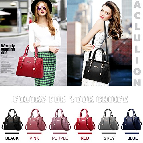 Purses Bag Handle Shoulder Handbags Tote Satchel Top ACLULION Bag and Womens Red2 Large B65qXZTn