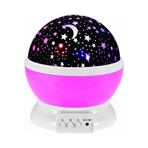 Fozela Constellation Baby Night Light Moon Star Projector...