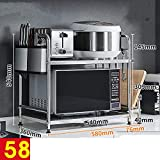 HUO Microwave Oven Rack Double-Layer Floor Storage Rack Kitchen Storage Rack Multifunction (Color : 58Chopping BoardChopsticks Cutter)