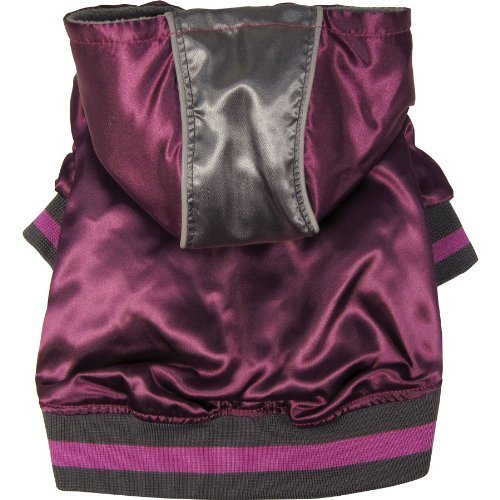 Dogit Style Metallic Dog Hoodie, Medium, Purple by Dogit