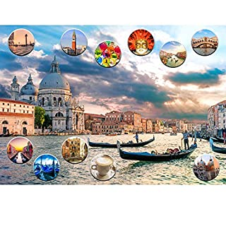 """Think2Master Venice, Italy 1000 Pieces Jigsaw Puzzle for Teens & Adults. Finished Puzzle Size of This European Travel Destination is 26.8"""" X 18.9"""""""