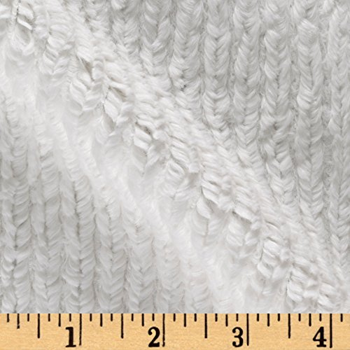 Shannon Fabrics Shannon Minky Luxe Cuddle Chenille Natural Fabric By The Yard (Fabric Chenelle)