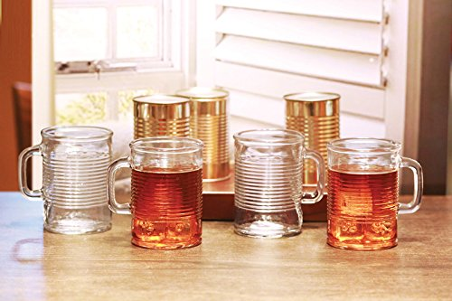 Circleware 04430/AM Huge Set of 12 Mason Jar Mugs in Fun Can Shaped Glasses Home and Kitchen Farmhouse Glassware Décor Drink Tumblers for Water, Beer, Whiskey and Cold Beverages, 17.5 oz, Clear by Circleware (Image #3)