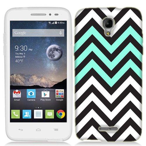 Mint Black Chevron Case for Alcatel One Touch ALLURA Phone (One Touch Phone Case Chevron)