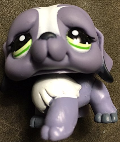 Hasbro Grey, Green Eyes LPS Collectible Replacement Single Figure Collector Toy Loose Bernard #1133 St - Littlest Pet Shop Retired OOP Out of Package /& Print