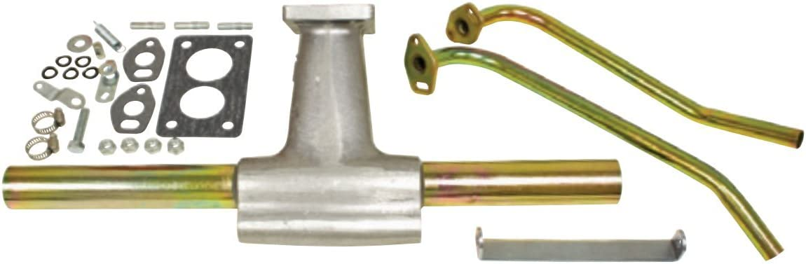 Classic VW Beetle Intake manifold with dual port 35 mm base single pre-heat Ghia