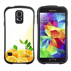 LASTONE PHONE CASE / Suave Silicona Caso Carcasa de Caucho Funda para Samsung Galaxy S5 SM-G900 / Fruit Macro Oranges