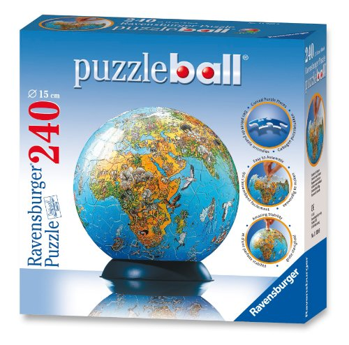 Ravensburger Illustrated World Map - 240 Piece puzzleball