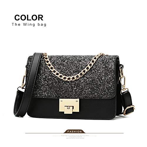 x 15cm Leather Wallet 22 Handbag Black Bag with Black EDLUX Women 9 x Purse Shoulder for PU Ladies Yx6z4qnUP