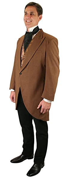 1900s Edwardian Men's Suits and Coats  Victorian Cutaway Morning Coat Historical Emporium Mens $179.95 AT vintagedancer.com
