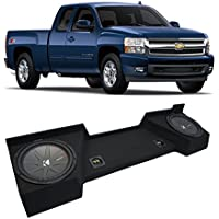 2007-2013 Chevy Silverado Ext Cab Truck Kicker CompR CWR10 Dual 10 Sub Box Enclosure - Final 2 Ohm