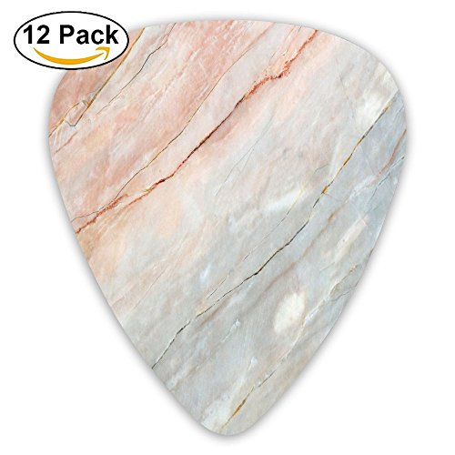 Newfood Ss Onyx Stone Textured Natural Featured Authentic Scratches Artful Illustration Decorative Guitar Picks 12/Pack Set]()
