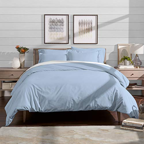 Bare Home Luxury 2 Piece Duvet Cover and Sham Set - Premium 1800 Ultra-Soft Brushed Microfiber - Hypoallergenic, Easy Care, Wrinkle Resistant (Twin/Twin XL, Light Blue)