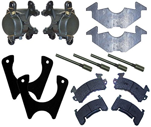 NEW SOUTHWEST SPEED RACING GM METRIC D154 BRAKE CALIPER, PAD, AND WELD-ON MOUNTING BRACKET SET FOR MOUNTING METRIC BRAKES ON A 9