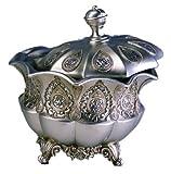Ore International K-4199JX Traditional Royal Decorative Jewelry Box, 8-Inch, Metallic Silver