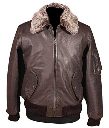 Vintage Aviator A2 Flight Bomber Leather Jacket Brown