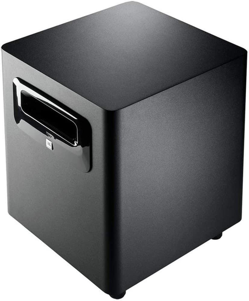 Stabilizer /& XLR Cable JBL LSR310S 200W Powered Subwoofer Bundle with Mackie Big Knob Controller