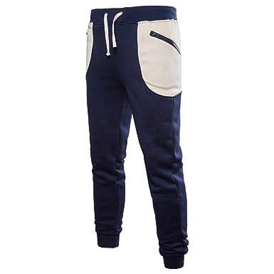 Sylar Pantalones Para Hombre Chandal, Color Sólido Slim Fit ...