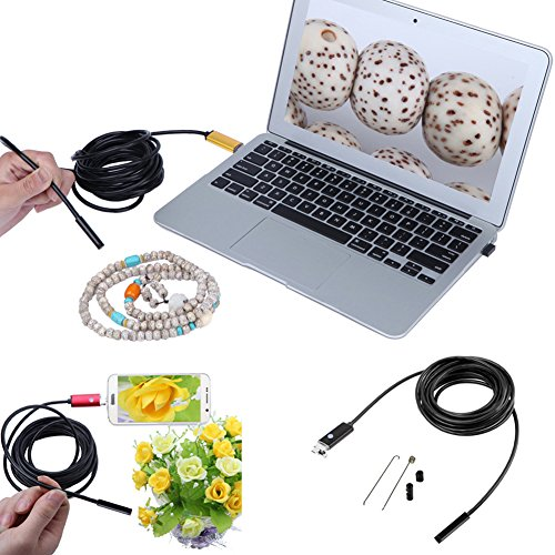 USB Phone Interface Endoscope 6 LED 2M/5M Inspection Camera for Android Mobile Phone Laptop PC(Gold) by DAVEVY (Image #2)
