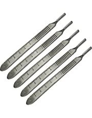 Scalpel Handle No.3 Fits Swann Morton Blades - Surgical,Sign,Craft,Card Making Cutter,Podiatry,Dental (5 Handles)