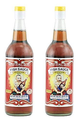 Golden Boy Brand Fish Sauce, 24 Ounce Bottles (Pack of 2) (Best Fish Sauce Recipe)