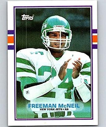 42a8392bd95 Amazon.com: 1989 Topps #232 Freeman McNeil NY Jets NFL Football ...