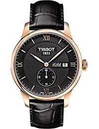 Tissot Men's 39mm Black Calfskin Band Steel Case S. Sapphire Automatic Analog Watch T0064283605801