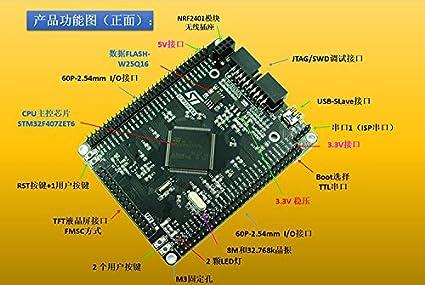 Amazon com: 2pcs STM32F407ZET6 development board STM32F4 M4