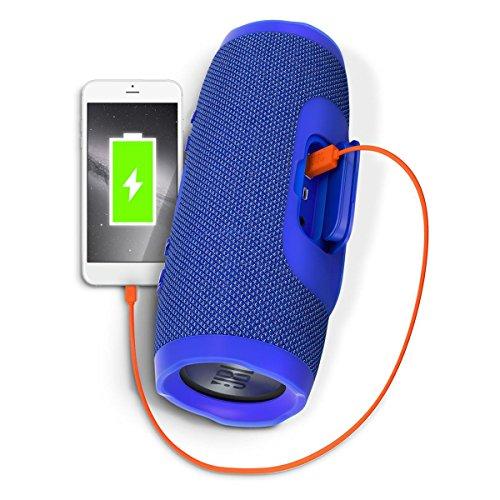 JBL Charge 3 Waterproof Bluetooth Speaker -Blue (Certified Refurbished) by JBL (Image #2)