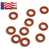Garden Hose Heavy Duty Silicone Rubber Washers-10-pack MADE IN USA Aero Space Silicone