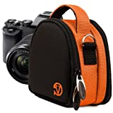 VanGoddy Compact Mini Laurel ORANGE Camera Pouch Cover Bag fits Canon PowerShot G7 X, N100, N Facebook, SX600, SX260, S120, S110 HS