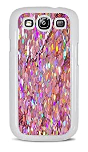 Holographic Pink Sequins White Hardshell Case for Samsung Galaxy S3 by ruishername