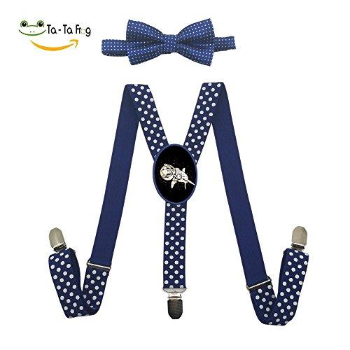Grrry Children Space Shark Adjustable Y-Back Suspender+Bow Tie (Space Suit Costume Ideas)