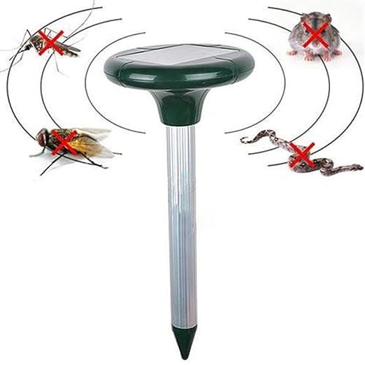 2 opinioni per Repellente ad ultrasuoni per serpenti e altri animali, doppio LED, con sensore a